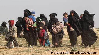 Жены террористов ИГ с детьми