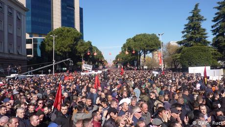 Антиурядові протести в Албанії: щонайменше шестеро потерпілих