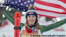 Ski alpin WM in Are | Mikaela Shiffrin (USA) (picture-alliance/dpa/M. Kappeler)