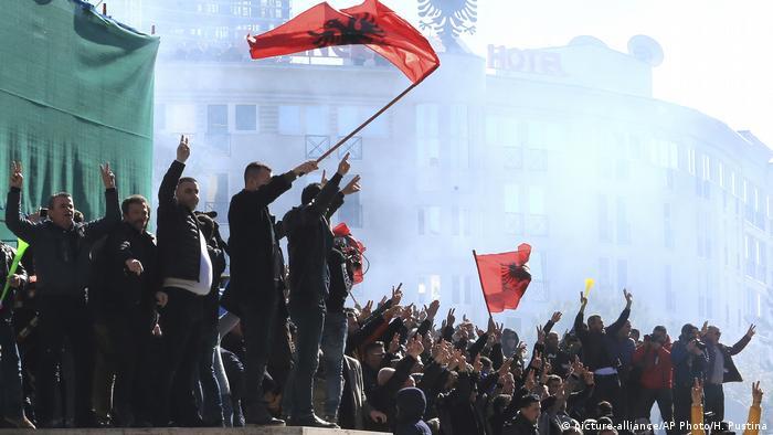 Albanien Tirana - Protest der Opposition