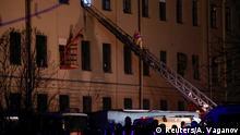 Russland St. Petersburg Rettungskräfte nach Einsturz an ITMO Universität
