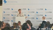 Tymoshenko speaking at the Munich Security Conference (DW/M. Drabok)