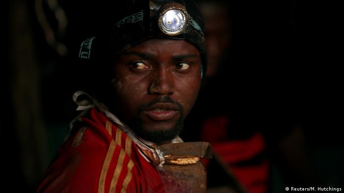 Simbabwe Gerettete Minenarbeiter