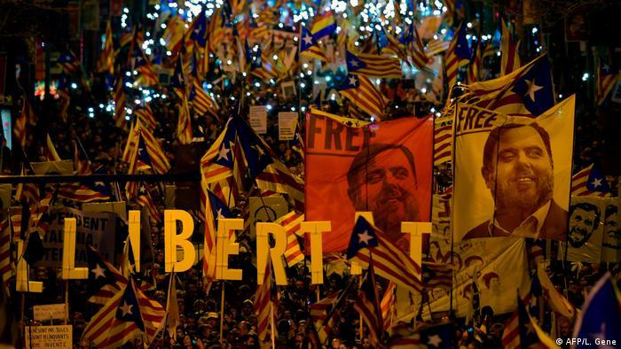 Протестувальники у Барселоні вимагають звільнення лідерів каталонських сепаратистів