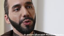 Salvadoran President-elect Nayib Bukele, speaks during an interview with The Associated Press in San Salvador, El Salvador, Tuesday, Feb. 12, 2019. Bukele, a youthful former mayor of the capital, easily won El Salvador's presidency, getting more votes than his three rivals combined to usher out the two parties that dominated politics for a quarter century in the crime-plagued Central America nation. (AP Photo/Salvador Melendez) |