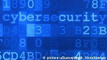 ARCHIV - Das Wort «Cybersecurity» steht am 04.05.2017 in Potsdam (Brandenburg) auf einem Plakat im Hasso-Plattner-Institut (HPI). (zu dpa-Story: dpa-Story - Attacken aus dem Netz vom 23.01.2018) Foto: Ralf Hirschberger/dpa-Zentralbild/dpa +++(c) dpa - Bildfunk+++ | Verwendung weltweit