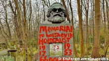London Karl Marx Grabstein geschändet
