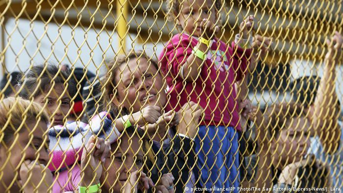 Mexiko Piedras Negras - Migranten in Notunterkunft