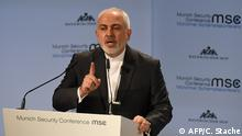 Iran's Javad Zarif at the MSC (AFP/C. Stache)