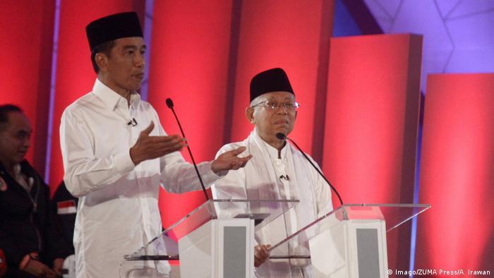 Indonesische Präsidentschaftswahlen TV-Debatte Joko Widodo und Prabowo Subianto