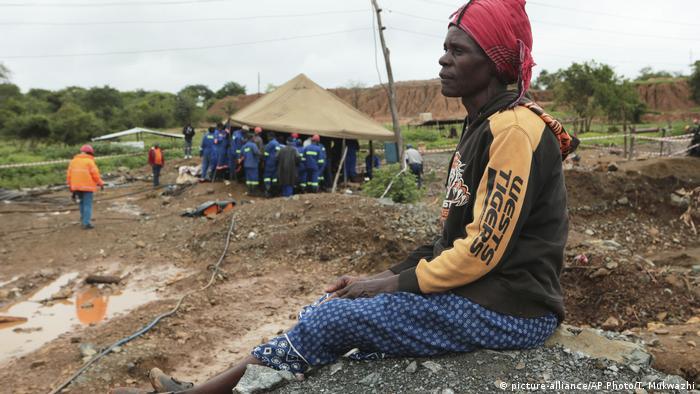 Simbabwe Rettungsaktion für verschüttete Minenarbeiter