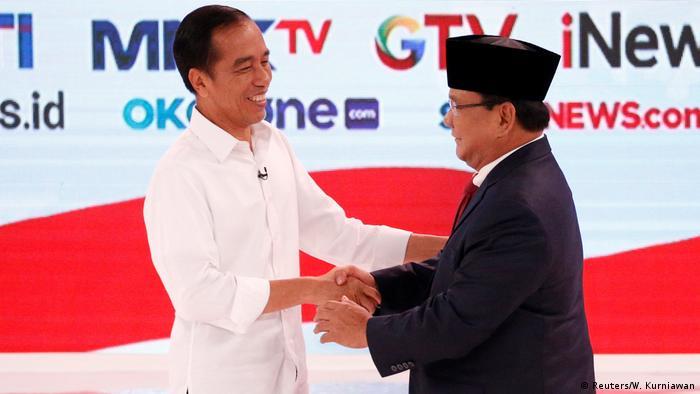 Indonesien Präsidentschaftswahlen TV-Debatte Joko Widodo und Prabowo Subianto