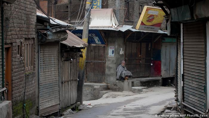 A market in India-administered Kashmir