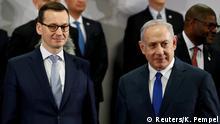Polen Warschau Mateusz Morawiecki und Benjamin Netanjahu