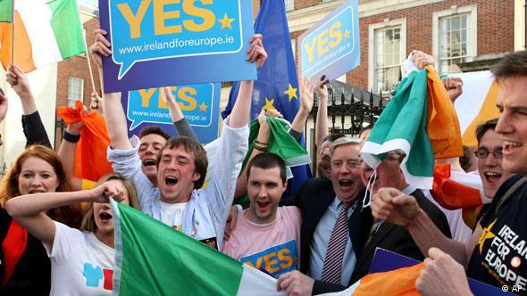 Irskoj je takođe trebalo dugo vremena: Zagovornici Ugovora slave početkom oktobra uspjeh referenduma