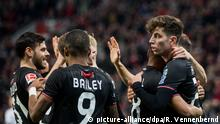 1. Bundesliga | Bayer 04 Leverkusen v Fortuna Düsseldorf | Torjubel 1:0