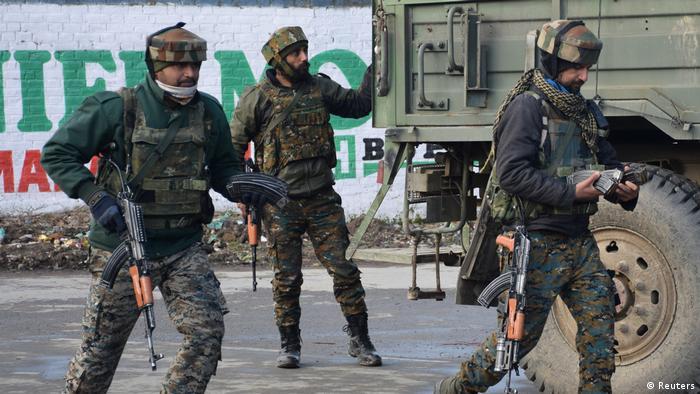 Indien Kashmir Unruhen Soldaten