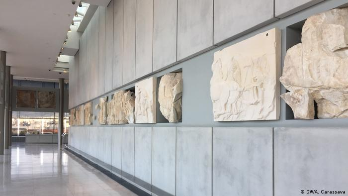 Missing slabs from the Elgin marbles (DW/A. Carassava)