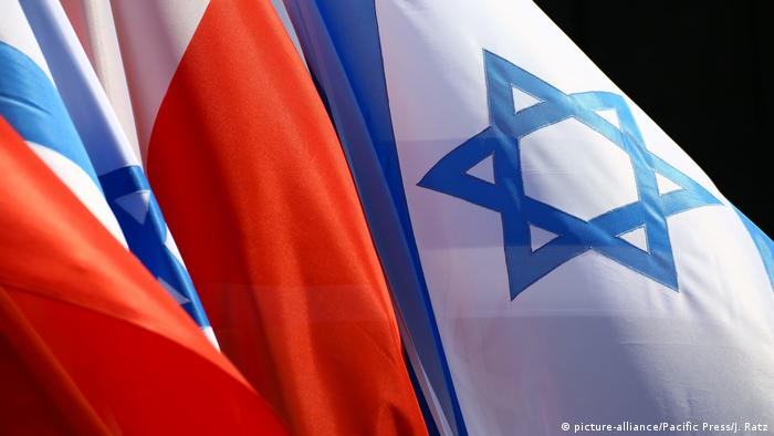 Polish and Israel flags (picture-alliance/Pacific Press/J. Ratz)