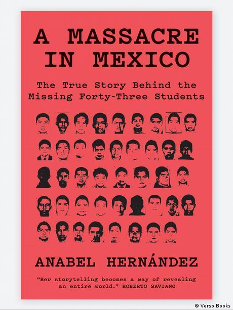 طرح جلد کتاب هرناندز در مورد سرنوشت ۴۳ دانشجویی که ناپدید شدند