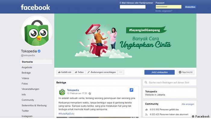 Screenshot Tokopedia (Facebook)