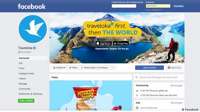 Screenshot Traveloka (Facebook)