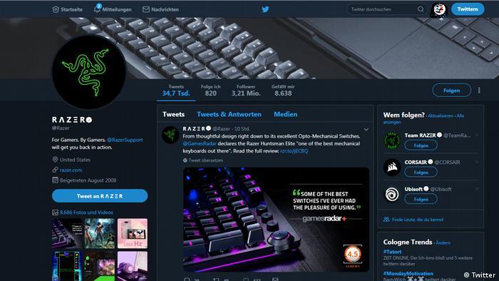 Screenshot Razero (Twitter)