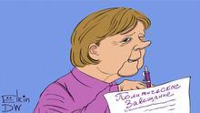 Thema: Merkels Rede auf der Münchener Sicherheitskonferenz als politisches Vermächtnis DW, Sergey Elkin