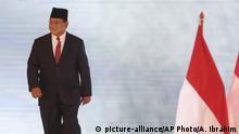 Indonesien Präsidentschaftskandidat Prabowo Subianto