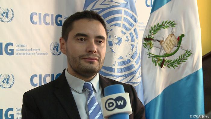 Matías Ponce, vocero de la CICIG de Guatemala.