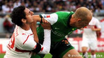 Spielszene Stuttgart gegen Bremen (Foto: dpa)
