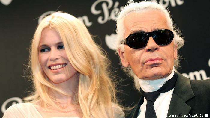 Karl Lagerfeld und Claudia Schiffer