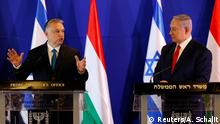Viktor Orban and Benjamin Netanjahu in Jerusalem (Reuters/A. Schalit)