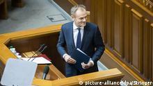 Ukraine, Kiew: Präsident des Europäischen Rates Donald Tusk
