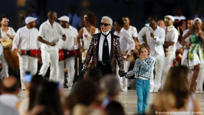Kuba Karl Lagerfeld Modesschau in Havanna