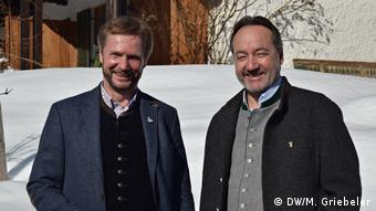 Ramsau's tourism director Fritz Rasp (left) and hotel director Hannes Lichtmanegger