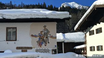 House in Ramsau with mural painting
