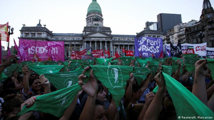 Argentinien Protest für das Recht auf Schwangerschaftsabbruch in Buenos Aires