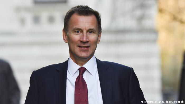 Jeremy Hunt in London