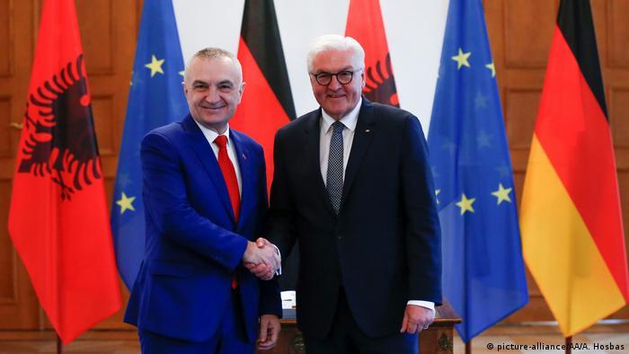 Treffen Steinmeier Meta Albanien in Berlin