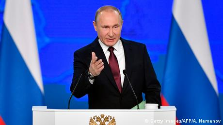 Russland | Putin hält Rede zur Lage der Nation | 2019 (Getty Images/AFP/A. Nemenov)