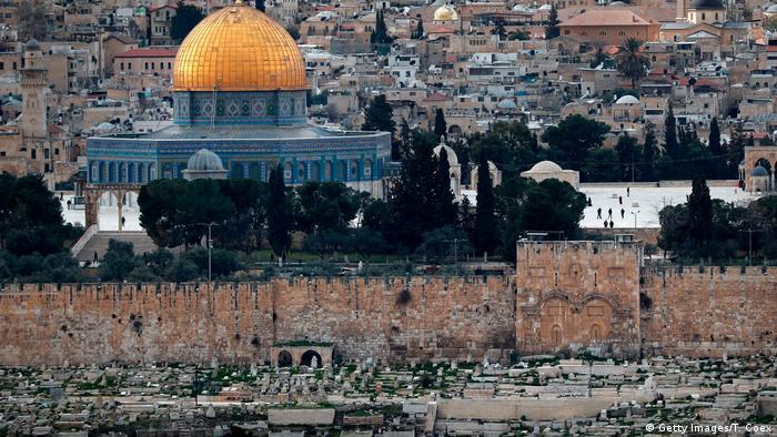 Tempelberg mit Al-Aksa-Moschee und Goldenem Tor