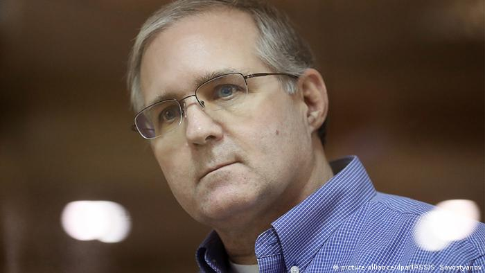 Russland Moskau - U.S. Bürger Paul Whelan in Moskauer Gericht wird Spionage gegen Russland vorgeworfen (picture-alliance/dpa/TASS/S. Savostyanov)