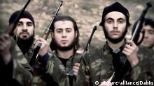 Terroristen des sog. islamischen Staates IS Daesh