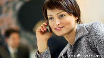 Woman on a mobile phone
