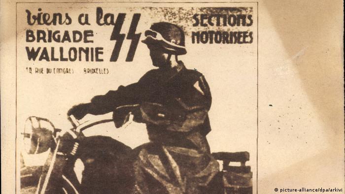 Плакат, посвященный бельгийским отрядам ваффен-СС (фото из архива)