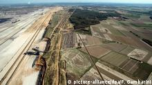 Bird's-eye view of Hambach Forst and the nearby open-pit mine (picture-alliance/dpa/F. Gambarini)