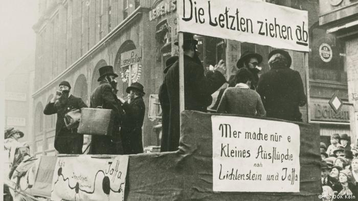 One of the first anti-Semitic floats in Cologne