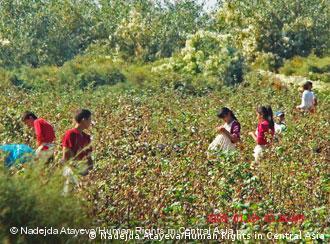 Children in an Uzbek cotton field
