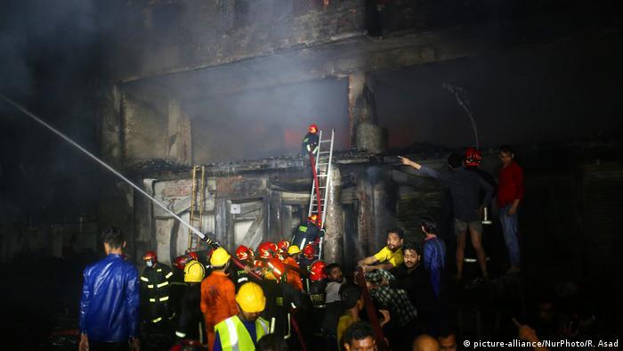 Bangladesch Großbrand in Dhaka